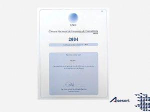 Certificado Cámara Nacional de Empresas de Consultoría